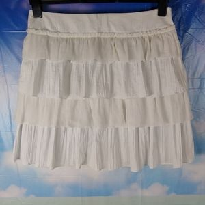 J Crew tiered cotton lined skirt